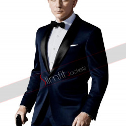 Skyfall James Bond Tuxedo Blue Suit