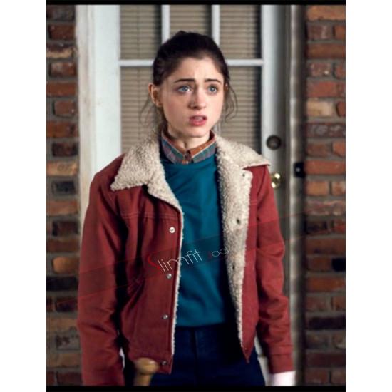 Nancy Wheeler Stranger Things Natalia Dyer Red Jacket