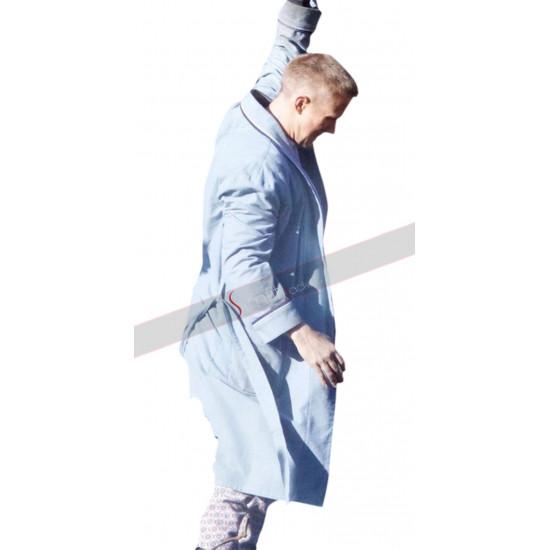First Man Ryan Gosling Neil Armstrong Biopic Blue Cotton Long Coat