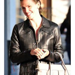 Jennifer Garner Black Leather Jacket