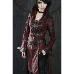 Women Punk Rave Visual Kei Trench Coat Costume