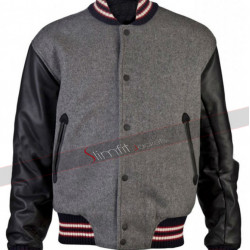Spider Man Andrew Garfield Varsity Wool Jacket