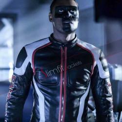 Curtis Holt Arrow Season 5 Mr Terrific Leather Jacket