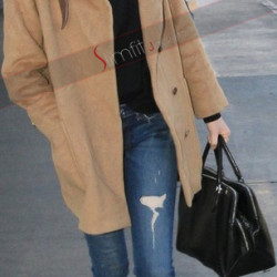 Emma Stone Camel Spider Man Trench Wool Coat