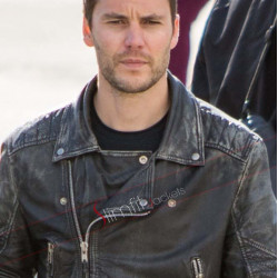 American Assassin Taylor Kitsch Movie Black Leather Jacket