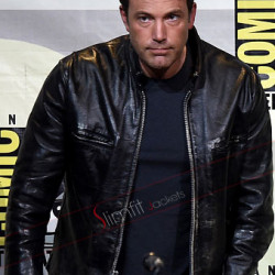 Ben Affleck Comic Con San Diego 2017 Leather Jacket