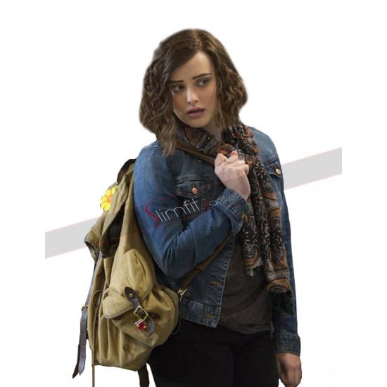 13 Reasons Why TV Series Hannah Baker Denim Jacket