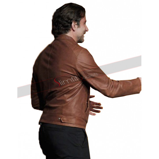 Bradley Cooper A Star Is Born Jackson Maine Leather Jacket