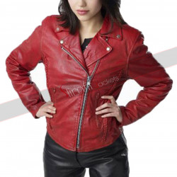 Alyssa Diaz Ben 10 Alien Swarm Elena Validus Leather Jacket
