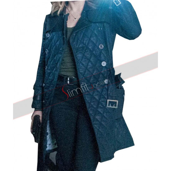 Sophia Bush Blue Leather Jacket From Chicago P.D by Erin Lindsay