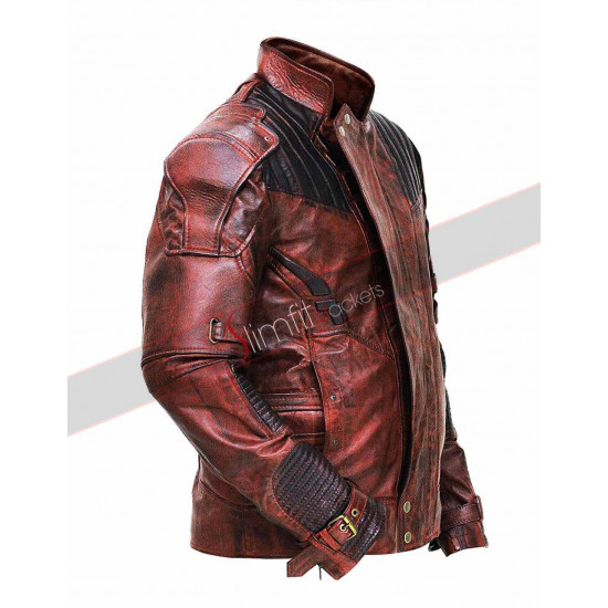 Guardians of the Galaxy Vol 2 Distressed Leather Jacket