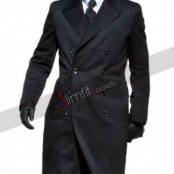 James Bond Spectre Daniel Craig Black Wool Trench Coat