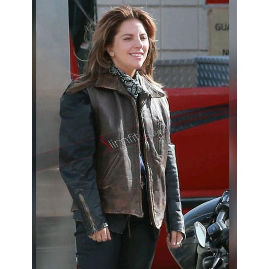 Lady Gaga A Star Is Born stefani Germanotta Leather Vest