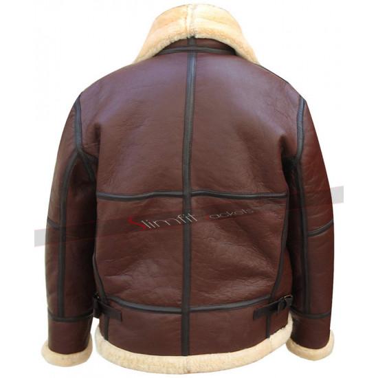Aviator RAF B3 Pilot Flight WWII Sheepskin Leather Jacket