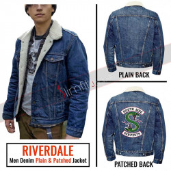 Riverdale Denim Blue Fur Jacket