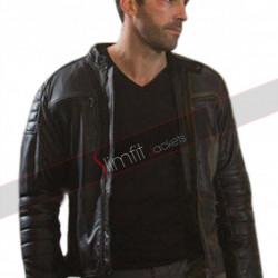 Accident Man Scott Adkins Mike Fallon Black Leather Jacket