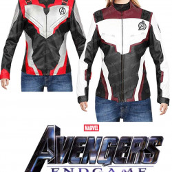 Avengers Endgame Quantum Realm Superheroes Women Leather Jacket