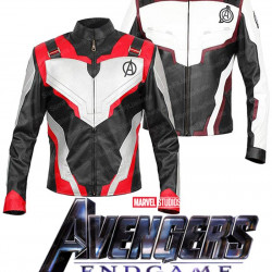 Avengers Endgame Quantum Realm Superheroes Leather Jacket