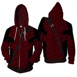 Deadpool Zipper Fleece Hoodie Jacket