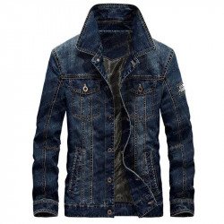 Denim Stylish Blue Jacket For Men