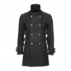 Queen of Darkness Black Stand Collar Car Coat