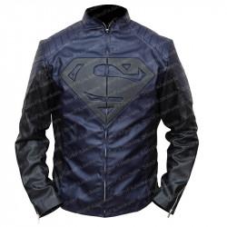 Black and Blue Superman Leather Jacket