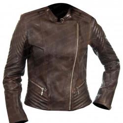 Women Brown Serendipity Biker Leather Jacket