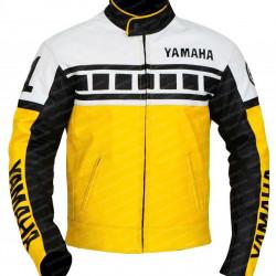 Yamaha Yellow Biker Leather Jacket