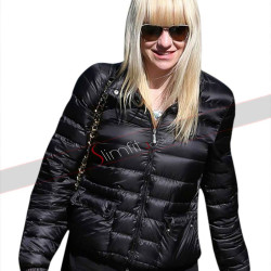 Anna Faris American Actress Running Errands Black Jacket