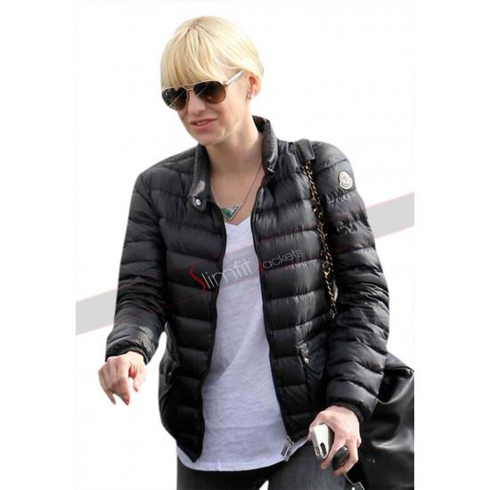 Anna Faris American Actress Running Errands Black Jacket