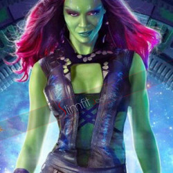 Zoe Saldana Guardians Of The Galaxy Gamora Costume