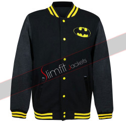 Batman the Dark Knight Logo Varsity Letterman College Jacket