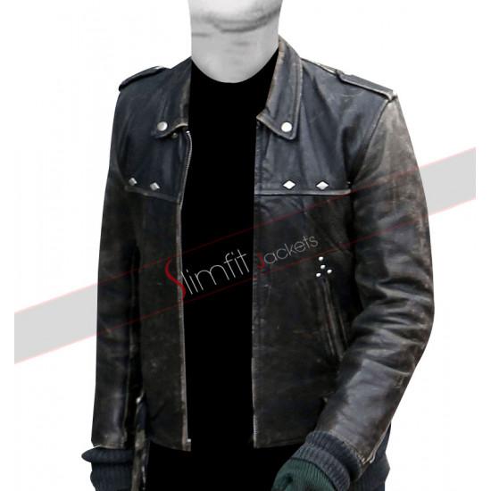 A Long Way Down Aaron Paul Distressed Jacket