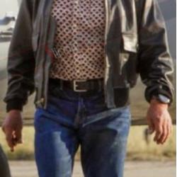 Arnold Schwarzenegger Expendables 3 Trench Mauser Aviator Jacket