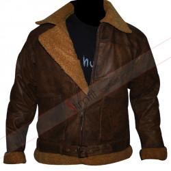 Shearling Brown Ralph Lauren Polo Bomber Jacket
