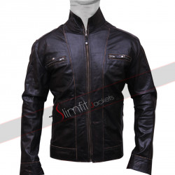 Saint Laurent Classic Black Motorcycle Leather Jacket