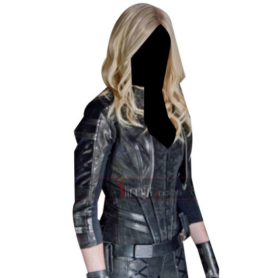 Arrow Season 2 Caity Lotz Black Canary Cosplay Costume