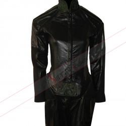 X-Men Rogue Jumpsuit Black Leather Jacket Costume