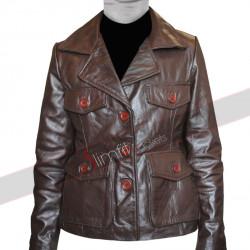 Bedtime Stories Keri Russell (Jill) Brown Blazer Jacket