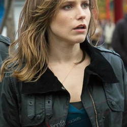 Erin Lindsay Chicago P.D Sophia Bush Cotton Fur Jacket