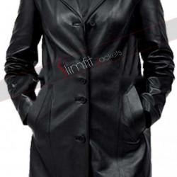 Women's Black Two Pecket Coat