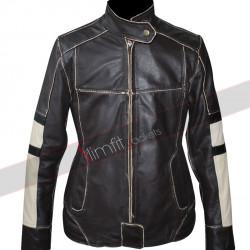 Dark Brown Women Biker Leather Jacket