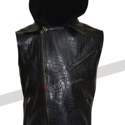 AJ Styles WWE Black Leather Vest